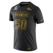 Wholesale Cheap Denver Broncos Nike Super Bowl 50 Champions Gold Pack T-Shirt Black