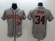 Wholesale Cheap Astros #34 Nolan Ryan Grey Flexbase Authentic Collection Stitched MLB Jersey
