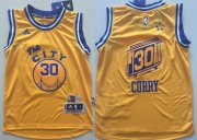 Cheap Youth Golden State Warriors # Stephen Curry Yellow The City Swingman Basketball Jersey