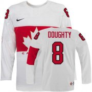 Wholesale Cheap Olympic 2014 CA. #8 Drew Doughty White Stitched NHL Jersey
