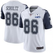 Wholesale Cheap Nike Cowboys #86 Dalton Schultz White Men's Stitched With Established In 1960 Patch NFL Limited Rush Jersey