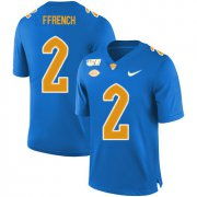 Wholesale Cheap Pittsburgh Panthers 2 Maurice Ffrench Blue 150th Anniversary Patch Nike College Football Jersey