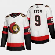 Cheap Ottawa Senators #9 Bobby Ryan Men's Adidas 2020-21 Authentic Player Away Stitched NHL Jersey White