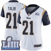 Wholesale Cheap Nike Rams #21 Aqib Talib White Super Bowl LIII Bound Women's Stitched NFL Vapor Untouchable Limited Jersey