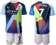 Wholesale Cheap Manchester City #7 Sterling Nike Cooperation 6th Anniversary Celebration Soccer Club Jersey