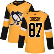 Wholesale Cheap Adidas Penguins #87 Sidney Crosby Gold Alternate Authentic Stitched Youth NHL Jersey