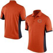 Wholesale Cheap Men's Nike NFL Chicago Bears Orange Team Issue Performance Polo