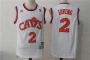 Wholesale Cheap Men's Cleveland Cavaliers #2 Kyrie Irving White Hardwood Classics Soul Swingman Throwback Jersey