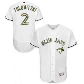 Wholesale Cheap Blue Jays #2 Troy Tulowitzki White Flexbase Authentic Collection Memorial Day Stitched MLB Jersey