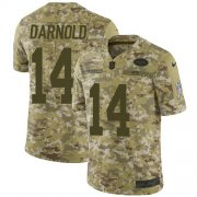 Wholesale Cheap Nike Jets #14 Sam Darnold Camo Men's Stitched NFL Limited 2018 Salute To Service Jersey