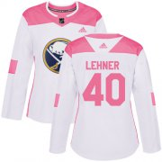 Wholesale Cheap Adidas Sabres #40 Robin Lehner White/Pink Authentic Fashion Women's Stitched NHL Jersey