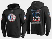 Wholesale Cheap Bruins #15 Milt Schmidt NHL Banner Wave Usa Flag Black Hoodie