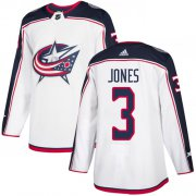 Wholesale Cheap Adidas Blue Jackets #3 Seth Jones White Road Authentic Stitched Youth NHL Jersey