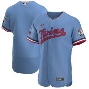 Wholesale Cheap Minnesota Twins Men's Nike Light Blue Alternate 2020 Authentic Team MLB Jersey
