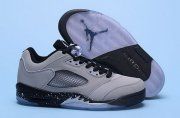 Wholesale Cheap Air Jordan 5 Retro Low Shoes Wolf grey/black
