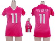 Wholesale Cheap Nike Cardinals #11 Larry Fitzgerald Pink Draft Him Name & Number Top Women's Stitched NFL Elite Jersey