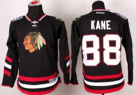 Wholesale Cheap Blackhawks #88 Patrick Kane Black 2014 Stadium Series Stitched Youth NHL Jersey
