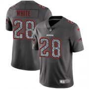 Wholesale Cheap Nike Patriots #28 James White Gray Static Youth Stitched NFL Vapor Untouchable Limited Jersey