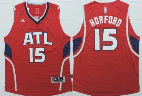 Wholesale Cheap Atlanta Hawks #15 Al Horford Revolution 30 Swingman 2014 New Red Jersey