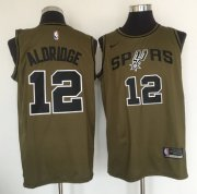 Wholesale Cheap San Antonio Spurs #12 LaMarcus Aldridge Olive Nike Swingman Jersey