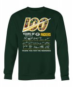 Wholesale Cheap Green Bay Packers 100 Seasons Memories Pullover Sweatshirt Green