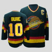 Wholesale Cheap Canucks #10 Pavel Bure CCM Throwback Stitched Black NHL Jersey