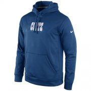 Wholesale Cheap Indianapolis Colts Nike KO Speed Wordmark Performance Hoodie Royal Blue