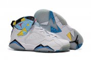 Wholesale Cheap Air Jordan 7 Retro Shoes White/blue-yellow-black