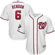 Wholesale Cheap Washington Nationals #6 Anthony Rendon Majestic 2019 World Series Champions Home Official Cool Base Bar Patch Player Jersey White