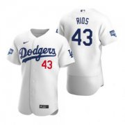 Wholesale Cheap Los Angeles Dodgers #43 Edwin Rios White 2020 World Series Champions Jersey