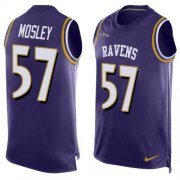 Wholesale Cheap Nike Ravens #57 C.J. Mosley Purple Team Color Men's Stitched NFL Limited Tank Top Jersey