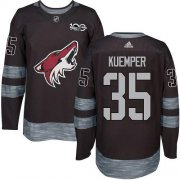 Wholesale Cheap Adidas Coyotes #35 Darcy Kuemper Black 1917-2017 100th Anniversary Stitched NHL Jersey