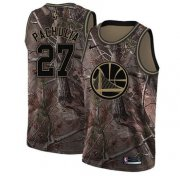 Wholesale Cheap Nike Golden State Warriors #27 Zaza Pachulia Camo NBA Swingman Realtree Collection Jersey