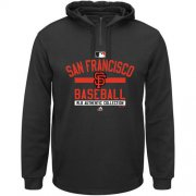 Wholesale Cheap San Francisco Giants Majestic AC Team Property On-Field Solid Therma Base Black MLB Hoodie