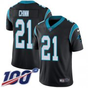 Wholesale Cheap Nike Panthers #21 Jeremy Chinn Black Team Color Men's Stitched NFL 100th Season Vapor Untouchable Limited Jersey