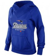 Wholesale Cheap Women's New England Patriots Big & Tall Critical Victory Pullover Hoodie Blue