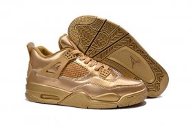 Wholesale Cheap Air Jordan 4 Retro Shoes gold