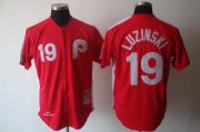 Wholesale Mitchell And Ness Phillies #19 Greg Luzinski Red Stitched Baseball Jersey