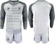 Wholesale Cheap Germany Blank Grey Goalkeeper Long Sleeves Soccer Country Jersey