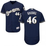 Wholesale Cheap Brewers #46 Corey Knebel Navy Blue Flexbase Authentic Collection Stitched MLB Jersey