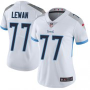 Wholesale Cheap Nike Titans #77 Taylor Lewan White Women's Stitched NFL Vapor Untouchable Limited Jersey