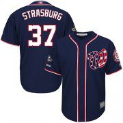 Wholesale Cheap Nationals #37 Stephen Strasburg Navy Blue New Cool Base 2019 World Series Champions Stitched MLB Jersey
