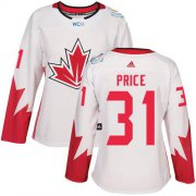 Wholesale Cheap Team Canada #31 Carey Price White 2016 World Cup Women's Stitched NHL Jersey