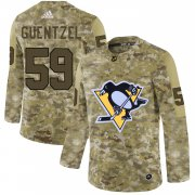 Wholesale Cheap Adidas Penguins #59 Jake Guentzel Camo Authentic Stitched NHL Jersey
