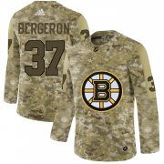 Wholesale Cheap Adidas Bruins #37 Patrice Bergeron Camo Authentic Stitched NHL Jersey