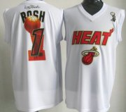 Wholesale Cheap Miami Heat #1 Chris Bosh 2012 NBA Champions White Jersey