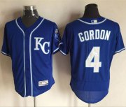 Wholesale Royals #4 Alex Gordon Royal Blue Flexbase Authentic Collection Stitched Baseball Jersey