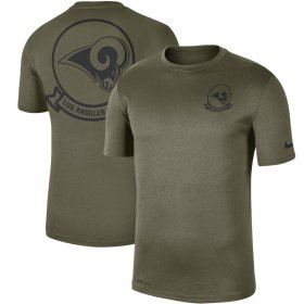 Wholesale Cheap Men\'s Los Angeles Rams Nike Olive 2019 Salute to Service Sideline Seal Legend Performance T-Shirt