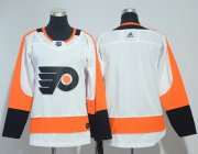 Wholesale Cheap Adidas Flyers Blank White Road Authentic Stitched Youth NHL Jersey