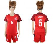 Wholesale Cheap Women's USA #6 Brooks Away Soccer Country Jersey